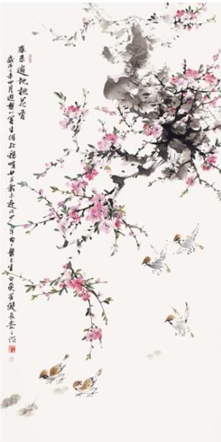 春来遍地桃花香